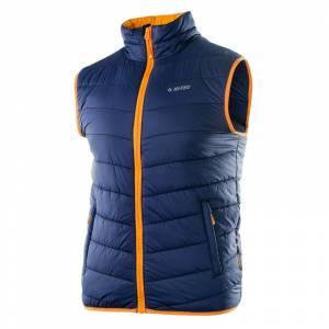 Vestă matlasată bărbătească HI-TEC Solner, albastru / portocaliu