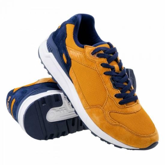 Pantofi casual pentru bărbați IGUANA Clote, Muștar/Bleumarin