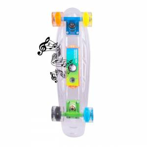 "Penny Board Light-Up WORKER Ravery 22 ""cu difuzor Bluetooth"