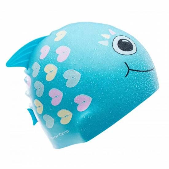 Casca inot MARTES Scalar Kids, Turquoise fish