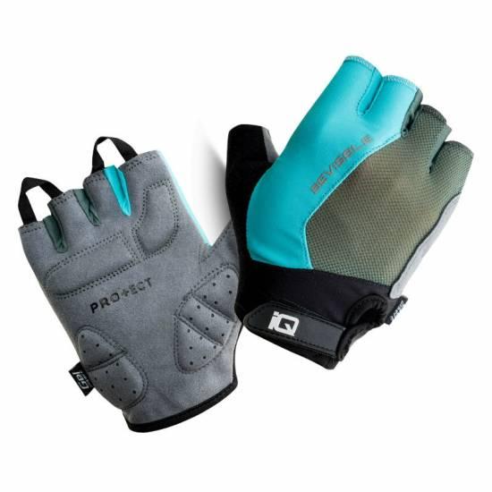 Mănușile pentru ciclism IQ Raid, Gri/Bleu