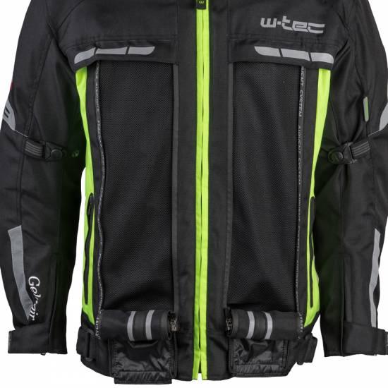 Geaca de motocicleta pentru barbati W-TEC Gelnair, Negru / Verde